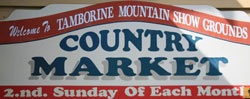 Mt T Showground-Markets-sign